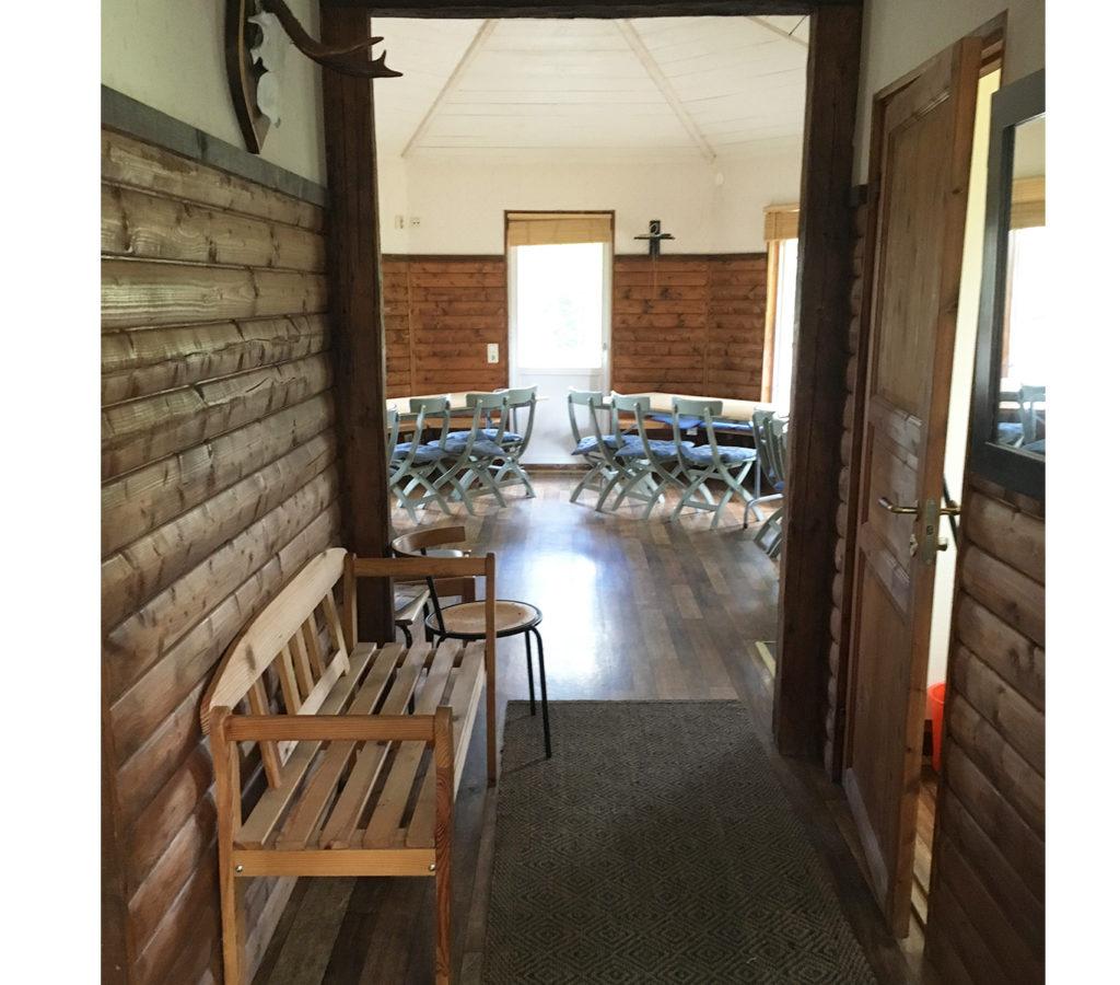 Samlingslokal för 30 personer på naturcamping i Hok